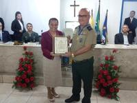 BANDA DO CMNE RECEBE MEDALHA VIDAL DE NEGREIROS