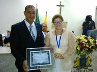 FÁTIMA GOMES RECEBE MEDALHA VIDAL DE NEGREIROS