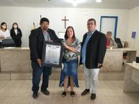 PROFESSORA ANA MARIA RECEBE TÍTULO DE CIDADÃ DE JABOATÃO